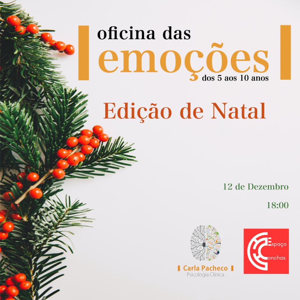 Eventos e Workshops Oficina das Emoções Natal Conchas Carla Pacheco